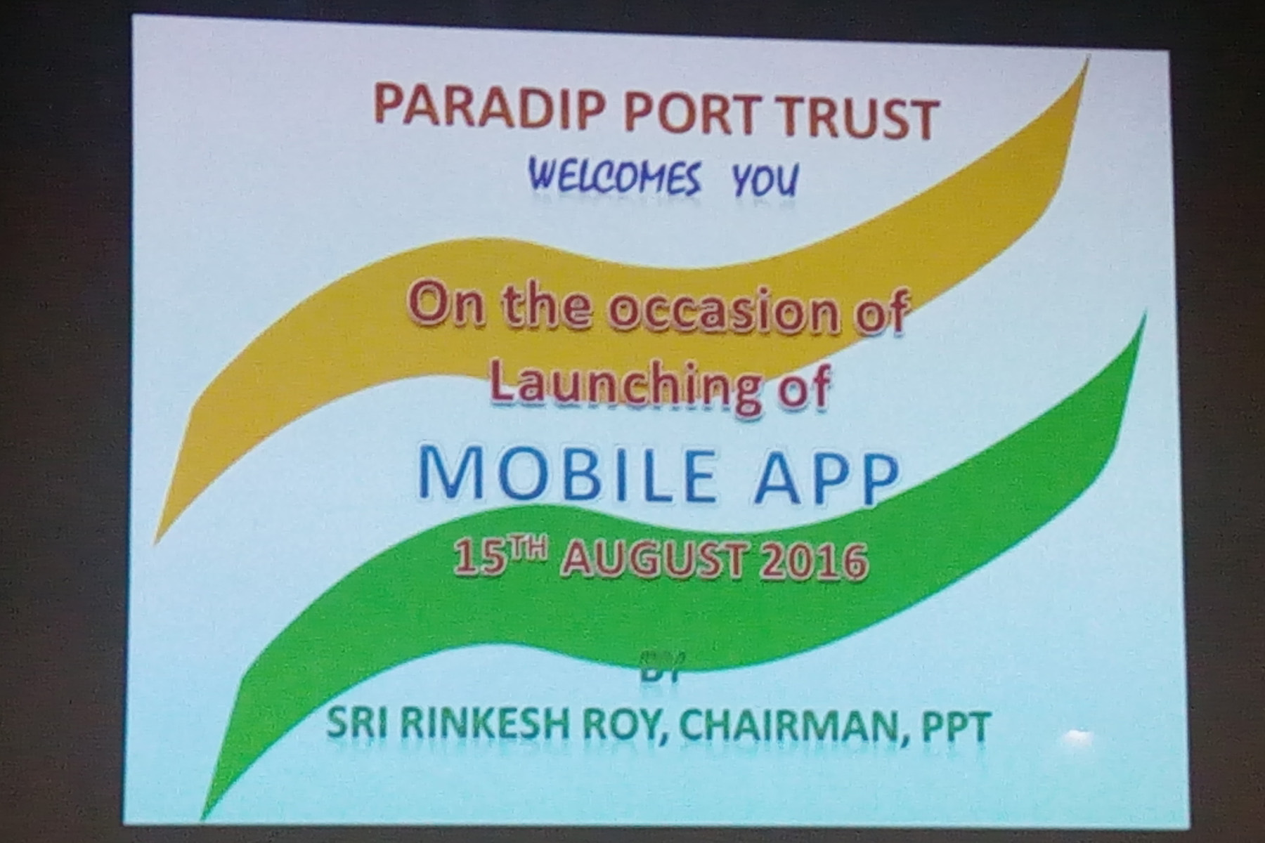Mobile App Inauguration on 15th Aug 2016